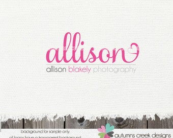 photography logo - logo for photographer  - heart logo  - premade logo design