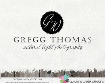 Premade Logo Design  -  Circular Script  Photography Photographer Shop Logo Design watermark use