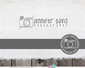 Photography Logo Premade Logo Design Camera Hand Drawn Logo Plus Circular File  Watermark Design