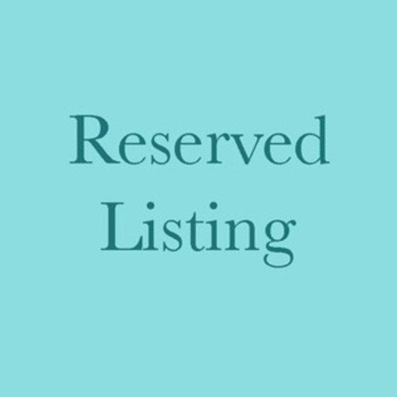 Reserved Listing for (Sari)