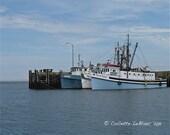 8x10 Print of 3 Boats at Meteghan Wharf, Meteghan, Nova Scotia