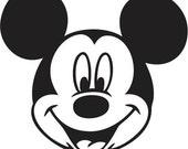 Custom Made Mickey Mouse Vinyl Sticker Decal 567, Car Decal, Bumper Sticker, Laptop Decal, Window Sticker