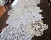 Handmade Doily Table Runner Vintage Doilies and Table Toppers for Wedding Table Treasury Item