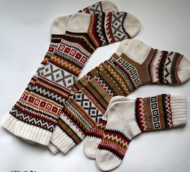 Вязание спицами скандинавские носки