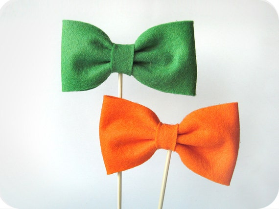 Choose Two Bow Ties on a Stick - Wedding, Party Photobooth Props