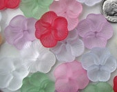 Pansy Flower Beads - Mixed Color Acrylic Lucite