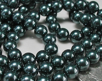 Tahitian - Look Swarovski Pearls (5810) 6mm Round Qty 10