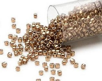 Delica Seed Beads 11/0 Metallic Light Bronze