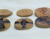 Burned Design and Concave Wooden Buttons