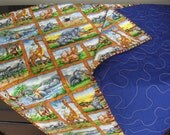 Jungle Themed Baby Blanket or Play Mat
