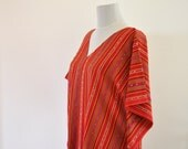 Cotton Unique Dress Summer Beach Dress Wearable Turkish Bath Towel  Peshtemal Red Orange Blue Green Striped