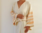 Robe Peshtemal Bath Robe Kimono Robe Caftan Turkish Bath Towel Long Extra Soft Cotton Obi Belt Eco Friendly Gifts