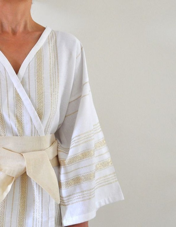 Kimono Robe Turkish Bath Towel Peshtemal Robe Bathrobe Caftan with Obi Belt Bridesmaids Robe