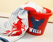Boys Lobster Towel and Bucket Gift Set