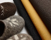 Natural rubber soles for my felted clogs and slippers- rubber soling for one pair of slippers