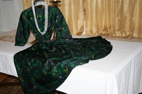Mad Men  Peacock Cocktail Dress
