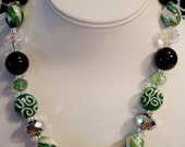 Small GREEN CLUsTeR Necklace Set & FREE ADDITIONAL shipping