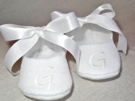 Baby Shoes - Baby Shoes for Baptism - Personalized Booties - Christening Keepsake - Baby Keepsake - Newborn Keepsake Gift - Baby Girl Shoes