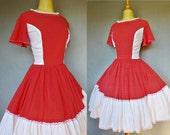 60s dress / polka dot party dress / Cardinal Rule Dress