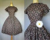 50s dress / 1950s garden party dress