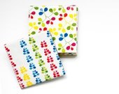 Ceramic Tile Coasters Spring Primary Colors, set of 4