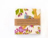 Coaster, Chinese Garden, Ceramic Tile Coasters, set of 4