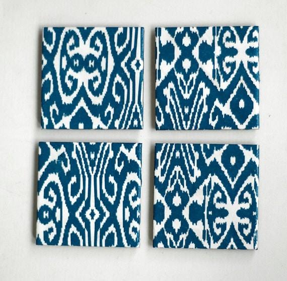ON SALE - Ikat pattern Blue