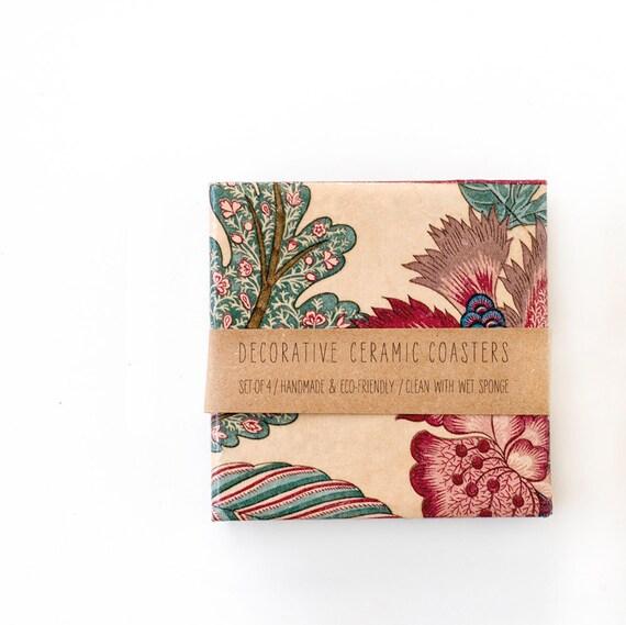 Tile Coasters, Bohemian Summer, set of 4