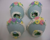 Panoramic Sugar Easter Egg Blue  Edible