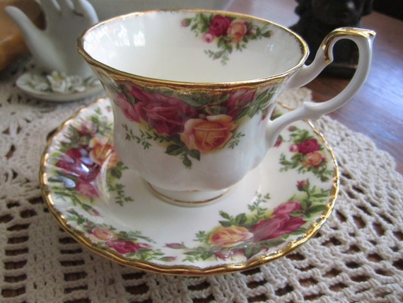 Old Country Rose Cup and Saucer 1962
