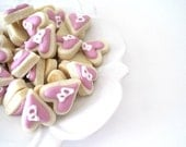 OH SO SMALL Initial Heart cookies - 6 dozen