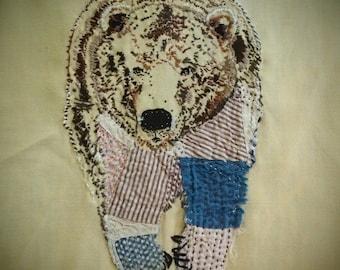 Hand embroidered spirit animal, custom