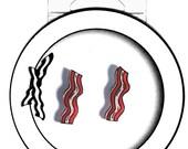 Bacon Stud Earrings