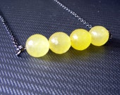 Yellow Necklace of Gemstones - If All The Rain Drops Were Lemon Drops - Black Friday, Cyber Monday