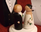 Personalized Wooden Wedding Cake Toppers Fully Customizable