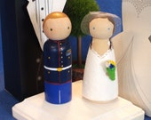 Military Cake Toppers Fully Customizable--Navy, Coast Guard, Army, Air Force