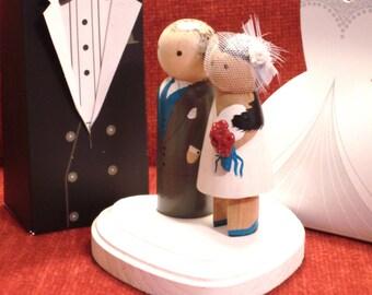 Tea Length Dress Wedding Cake Topper - Custom Cake Topper - Personalized Cake topper - Show off  Your Shoes-Short Dress Bride or Bridesmaid