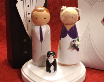 Custom Cake Topper with One Pet Fully Customizable---3-D Accents