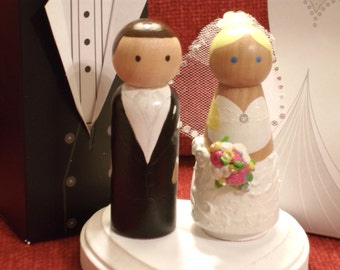 Custom Wedding Cake Topper - Fully Customizable---3-D Accents