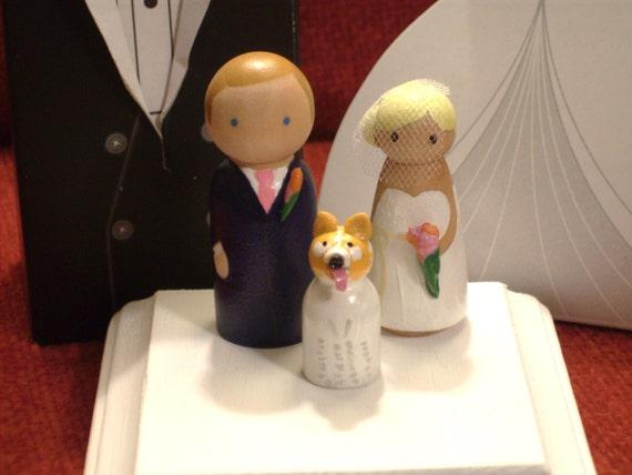 Custom CupCake Topper  Plus One -   Wedding Cake Topper Fully Customizable