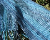 Teal Blue Handwoven Scarf