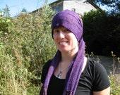 Rich Warm Purple Chenille Scarf