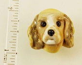 Reserved Listing: Cocker Spaniel Puppy Lampworked Bead