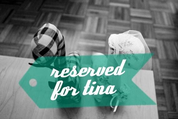RESERVED FOR TINA. custom wedding dinos.