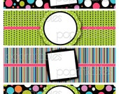 Rock Candy Collection - Water Bottle Labels - Blank - You Print