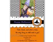 Halloween - Costume Party Invitation  - Polka Dot - Cute - Printable