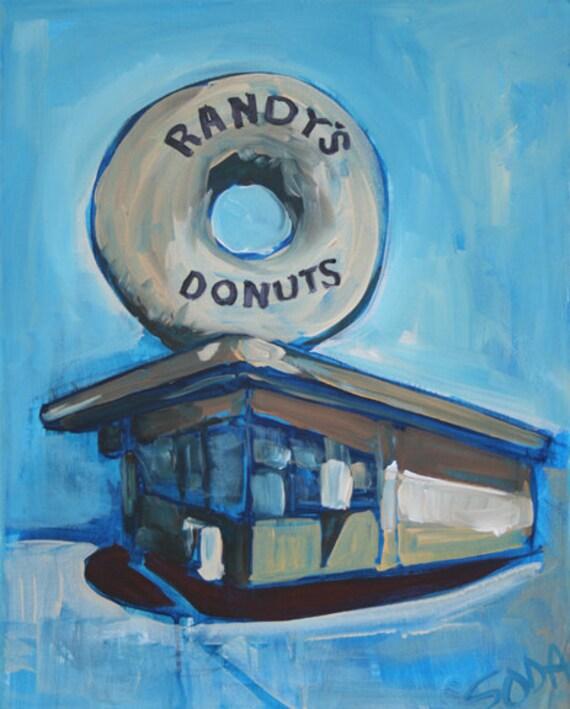 Randy's Donuts Los Angeles 16 X 20 original painting