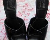 Vintage Size 3B Black Spike Heels Handcrafted Cinderella Beverly Hills