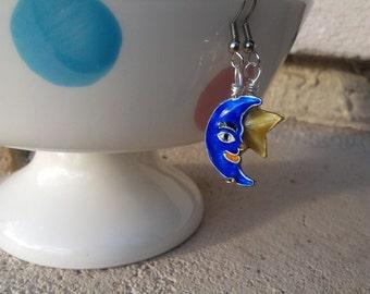 Artisan Star and Moon Earrings