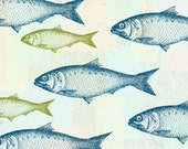 Retro Fish- Vintage Illusration with a Modern Twist - Art Giclee Print